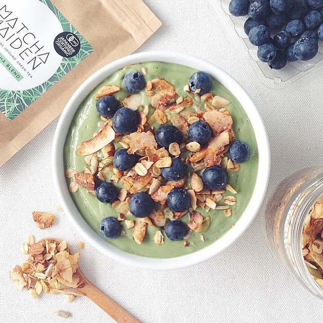 Vanilla Matcha Smoothie Bowl By Health Made Me