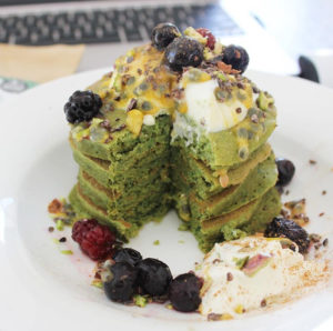 Buckwheat Matcha Pancakes using Organic Green Tea Powder